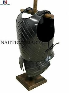 Medieval Dark Black Knight Armor Breastplate Cuirass Epic Dark Wearable costume