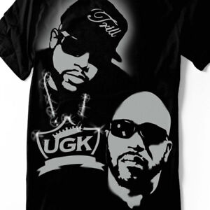 Pimp C Shirt UGK T-shirt  hand airbrushed with stencils rap hip hop tee