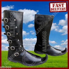 Leather Shoes for medieval drama play re-enactment larp event costume boots shoe