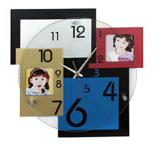 HORLOGE PHOTO MURALE Décoration HMP03 Cadran verre