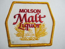 Molson Malt Liquor Embroidered, Vintage, Original, NOS, Patch  3 1/4 x 3 inches