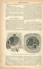 Métro Wagon Chemin de Fer Atmosphérique de New-York USA GRAVURE OLD PRINT 1879