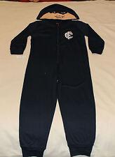 Carlton Blues AFL Boys Mascot Printed Hooded Onepiece Pyjama Size 3 New
