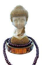 Ceramic Lotus Bottom Buddha Perfume Holder Air Freshener Car Home (Gold-White#A)