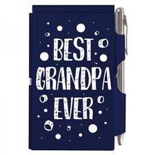 #2120 BEST GRANDPA EVER Wellspring Flip Note Pocket Notepad Blue Grandfather