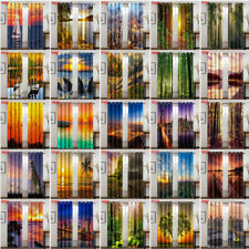 Sunset Forest Seaside 3D Window Curtain Living Room Curtains Drapes 50% Blackout