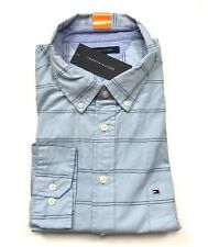 f676bf1c1 NWT TOMMY HILFIGER Men's Classic Fit L/S Dress Shirt Blue Navy Stripe, Size