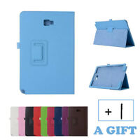 Flip Genuine Leather Case Cover For Samsung Galaxy Tab A 10.1 SM-P580 /P585