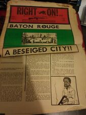 Rare 1972 The Black Panther Party Newspaper Feb 15 vol.1 #12 (Tattered)
