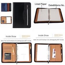 A5 Conference Portfolio Presentation Folder Folio Leather Zip Business Doc