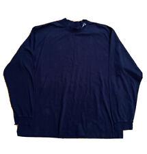 VTG Reebok Essential New England Patriots Long Sleeve Shirt Blue Men's Size 2XL