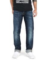Nudie Herren Regular Straight Fit Jeans | Average Joe Dark Bright Blue |W31 L32