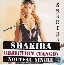 SHAKIRA OBJECTION CD SINGLE card sleeve + FRENCH STICKER ON COVER