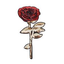 Rose Flowers Sequins Clothes Hierro bordado en parches para ropa Appliques