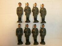 Konvolut 8 alte Lineol Massesoldaten DDR NVA Parade stillgestanden zu 7.5cm