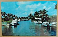 Vintage 1978 Postcard The Waterways & Boats In Fort Lauderdale Florida