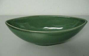 214 West China Green Boat Oval Bowl Banana Split Bowl Candy Nuts