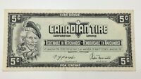 1974 Canadian Tire 5 Five Cents CTC-S4-B-BN Circulated Money Banknote E131