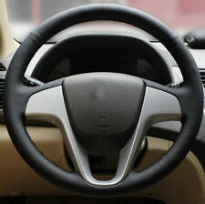 Steering Wheel Cover For Hyundai Solaris i25 i20 Accent 2009-14 Stitched Sewing