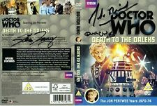 Doctor Who: DEATH TO THE DALEKS DVD Cover Signed by Cast & Crew