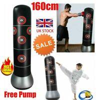 5.5FT Heavy Duty Free Standing Boxing Punch Bag Kick MMA Sports Training + Pump