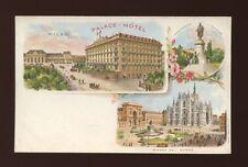 Italy MILAN MILANO Palace-Hotel c1902 u/b PPC
