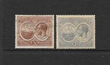 1920 King George V SG59 1/4d Brown & SG61 2d. Grey Mint Hinged BERMUDA