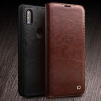 Original Qialino Ultra Thin Genuine Leather Flip Case Cover fo Xiaomi Mix 3 Mi 8