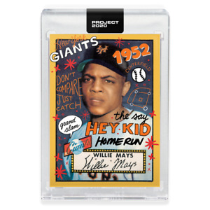 Topps PROJECT 2020 Card 80 - 1952 Willie Mays RC - Sophia Chang w Box! Free Ship
