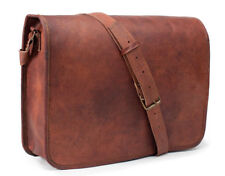 "Vintage Leather Messenger Bag 13"" MacBook Pro/Air Crossbody Shoulder Laptop Bag"