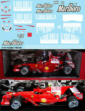 1/18  FERRARI F2008 F1 INC. SHARK BARCODE ROSSI KIMI MASSA DECALS TB DEC  TBD46