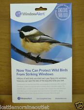 Window Alert 4 Modern Square Decals Protect Wild Birds Prevent Window Strikes
