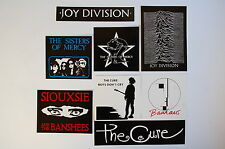 Assorted Goth Rock Cure Bauhaus Stickers Decals Indoor/Outdoor Lot of 8 (SL5)