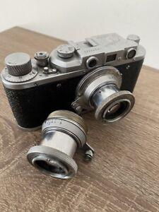 Zorki-1 soviet Leica rangefinder Film Camera  lens industar-22 /excellent works