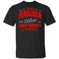 1984 Vintage Tony Ferguson Lightweight Division UFC Mens T-Shirt Black Tee Gi...