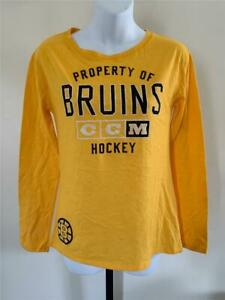 New Boston Bruins Womens Size S Small Yellow CCM Shirt