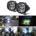 New 2 Pcs Car Motorcycle Waterproof LED External Lights Fog Light Headlight Lamp
