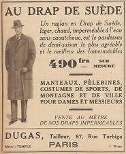 Z8375 Manteaux AU DRAP DE SUEDE - Pubblicità d'epoca - 1933 Old advertising