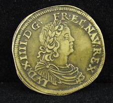 Louis XIV Jeton de compte Nuremberg Wolf Lauffers WOLF. LAVFER. RECH token