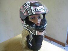 Daggar HJC CS-R1 Pink/Black  Motorcycle Helmet VG Pre-Owned Condition SZ L L@@K