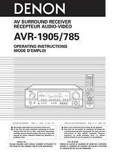 Denon AVR-1905 AV Surround Receiver Owners Manual
