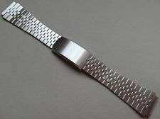New Mens Stainless Steel 18mm Buckle Clasp Watch Band Ultra Slim Flat Links