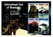 Guyana - 2002 - Year Of Mountains - Sheet Of 4 - MNH