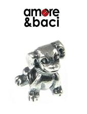 Genuine AMORE & BACI 925 sterling silver PUPPY DOG charm bead RRP £20