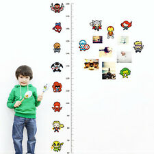 Height Growth Chart Measure wall decal Removable stickers decor nursery Mural