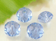 50 x Blue Crystal Quartz Faceted Rondelle Craft Beads - 8mm - L03851