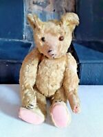 FABULOUS ANTIQUE 1910's TERRY'S TERRY TOYS GOLD MOHAIR TEDDY BEAR SOFT TOY