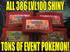 POKEMON FIRERED All 386 SHINY GAME UNLOCKED AUTHENTIC!