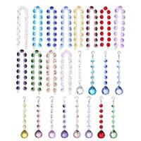 Crystal Ball Beads Rainbow Pendant Curtain Door Window Hanging Home Light Decor