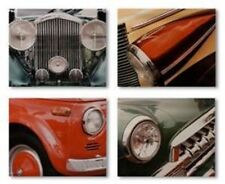 SET OF 4 CANVAS 16 x 20 VINTAGE AUTOMOBILE CAR HEADLIGHT PICTURES